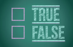True or false with checkboxes Stock Photo