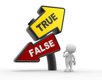 True or false Stock Photography