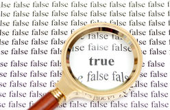 True and false Stock Photo