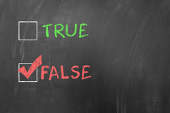 True or false options Royalty Free Stock Images