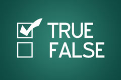 True False Stock Images