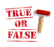 True or false Royalty Free Stock Photo