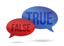 True and false speech communication. On a white background Stock Photo