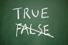True and false symbol Stock Image