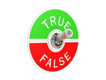 True false toggle switch Stock Image
