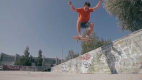 True Freedom Skateboarding. Slow motion. True Freedom Skateboarding. Slow motion HD stock video footage