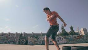 True Freedom Skateboarding. Slow motion. True Freedom Skateboarding. Slow motion HD stock video