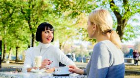 Free True Friendship Friendly Close Relations. Conversation Of Two Women Cafe Terrace. Friendship Meeting. Togetherness Stock Photography - 164795172