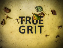 True Grit Sign Royalty Free Stock Images