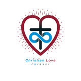 True Infinite Christian Love and Belief in God, vector creative Stock Photography