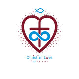True Infinite Christian Love and Belief in God, vector creative Royalty Free Stock Image