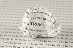 True or Lie Royalty Free Stock Image