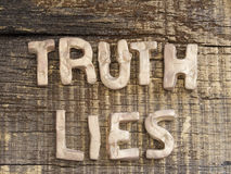 True or Lies Concept Royalty Free Stock Photography