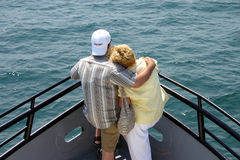 True Love. A couple enjoy each others company on the water Stock Photo