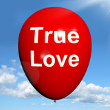 True Love Balloon Represents Lovers and Couples Stock Photography
