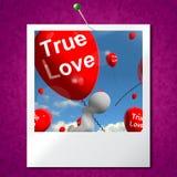 True Love Balloons Photo Represents Couples and Lovers. True  Love Balloons Photo Representing Couples and Lovers Stock Photo