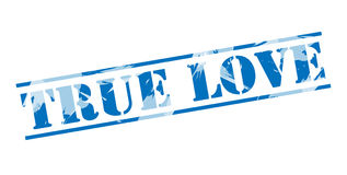 True love blue stamp Royalty Free Stock Images