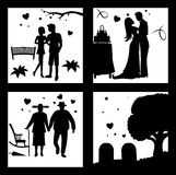 True Love Until Death Silhouette Stock Photography