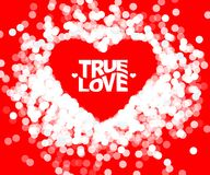 True love geometric color typography Poster. Royalty Free Stock Images