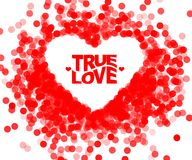 True love geometric color typography Poster. Fun inspiring hipster quote design background. Ideal for valentines and birthday card Royalty Free Stock Photo