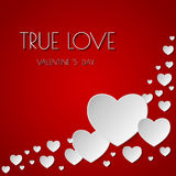 True love. Happy Valentine`s Day abstract background. Stock Image