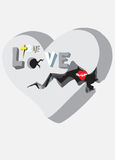 True love illustration Royalty Free Stock Images