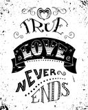 True love never ends. Royalty Free Stock Images