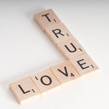 True Love Scrabble Concept Stock Photo