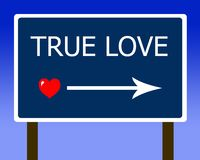 True love sign red heart Royalty Free Stock Images