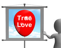 True Love Sign Represents Lovers and Couples Royalty Free Stock Image