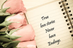 True love stories never have endings. Royalty Free Stock Photos