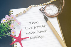 True love stories never have endings. Stock Image