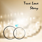 True love with two weddings rings Stock Photography