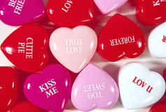 True love valentine hearts Stock Photos