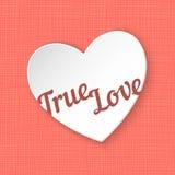 True Love. Vector illustration of 3d paper heart Stock Images