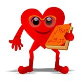 True love. Vector illustration of heart holding a book with true love message Royalty Free Stock Image