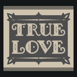 True love. Vintage background Royalty Free Stock Photography