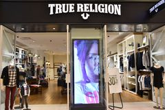 True Religion store at Mall of America in Bloomington, Minnesota. USA Stock Images