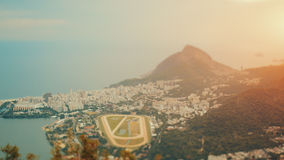 True tilt shift shooting of Rio de Janeiro, top view Stock Photos