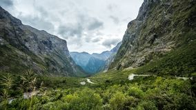 A True `U` Valley. Only a kilometer deep glacier could leave this scar on earth Stock Images