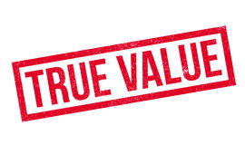 True Value rubber stamp Royalty Free Stock Images