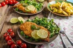 True Viennese schnitzel Royalty Free Stock Image