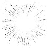 True vintage sunburst ray explosion halftone overlay template. R Royalty Free Stock Photo