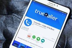 Truecaller app στοκ φωτογραφία με δικαίωμα ελεύθερης χρήσης