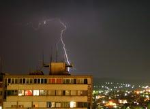 Trueno en Serbia Fotos de archivo