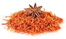 Truestar anisetree on saffron. White background Royalty Free Stock Image