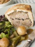 Trufa da carne de porco e torta pretas do Pistachio Imagem de Stock Royalty Free