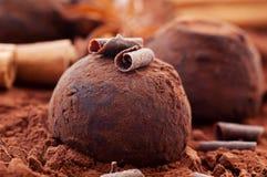 Trufa de chocolate imagem de stock royalty free