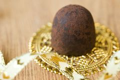 Trufa de chocolate Imagem de Stock Royalty Free