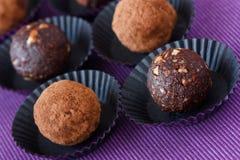 Trufa de chocolate. imagens de stock royalty free